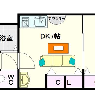 【ビジタル浪速12】4号タイプ!1DKタイプ!保証人も保証会社も不...