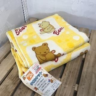 未使用品 子供用シングルサイズタオルケット 黄色