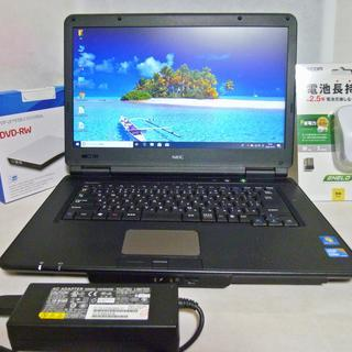 【 好評発売中 】15インチ ノートパソコン  SSD 120G...