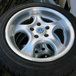VW フォルクスワーゲン アルミホイール 5穴 スタッドレ…