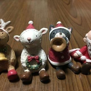 クリスマス用の人形4体