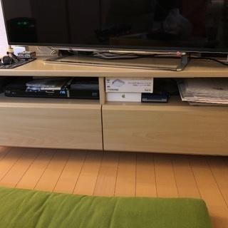 美品 木目調テレビボード