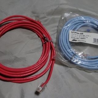 ツイストペア LANケーブル 5m 1本で200円