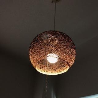 【16日まで】アジアンテイスト  照明  ランプ LEDライト付