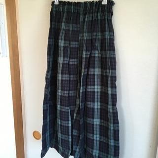ハンドメイド リネンのスカート