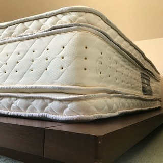 サータ パーフェクトスリーパー 美品 ベッド 2トップ マットレス...