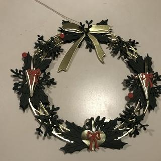 ★クリスマス★デンマークのイルムスのペーパークラフトのクリスマスリース
