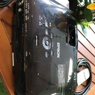 エプソン ホームプロジェクター EH-TW400 黒色 純正キャリーあり