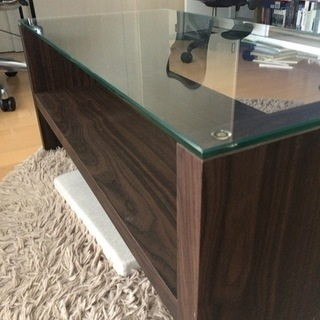 ガラス天板コーヒーテーブル