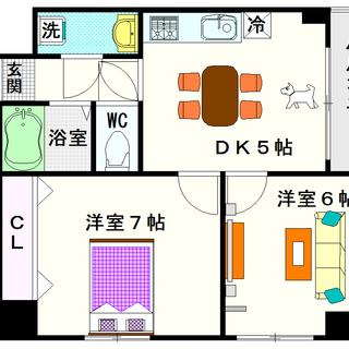 【サニーコート塩草】2号タイプ!2DKタイプ!芦原橋駅前って最近便利☆