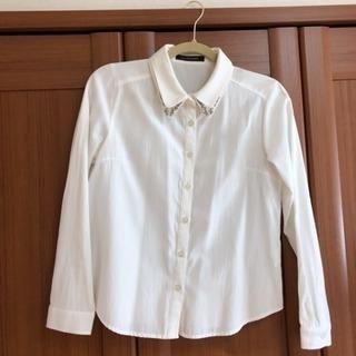 ビジュー付シャツ