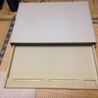 卓上PC台 スライド式キーボードテーブル付き