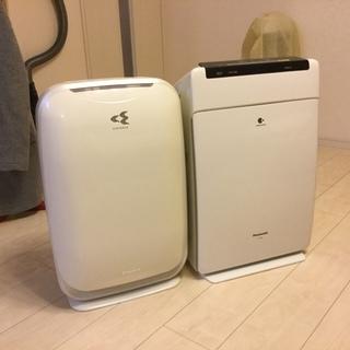 ダイキン&パナソニック空気清浄機2台