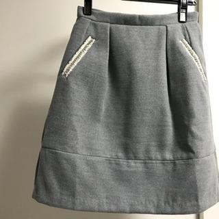 【うー様】【未着用】グレー 冬 スカート