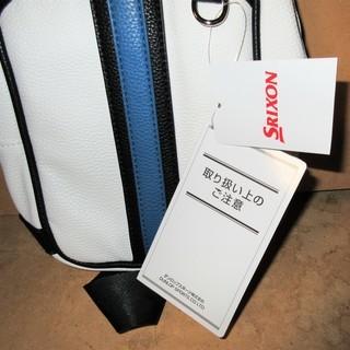 ☆ダンロップ DUNLOP GGB-S118 SRIXON スリクソン ボディバッグ ホワイト◆ゴルフ等スポーツ時から普段使いまで - 横浜市