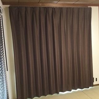 1級遮光カーテン 100×210cm 2枚組 ブラウン