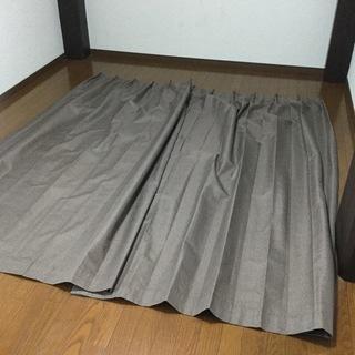1級遮光カーテン 100×220cm 2枚組 ブラウン