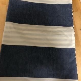 ニトリ 枕カバー  青 縞模様