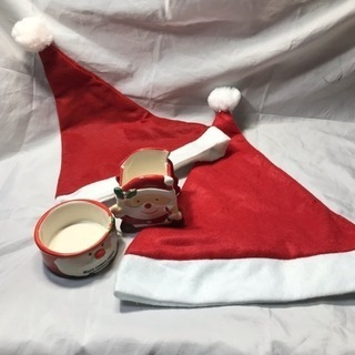 高級陶器品!クリスマス サンタ サンタコス 帽子!4点セット!