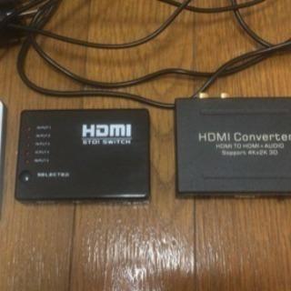 HDMI切替機とコンバーター