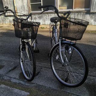 固いオマケ付き 24インチ 変速なし 自転車 ママチャリ 中古 ...