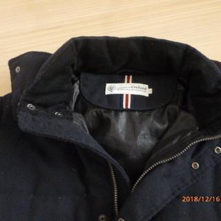 フード付き コート 濃紺(L)