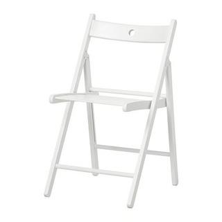 IKEA 折りたたみチェア テリエ 白・黒