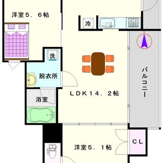 【ZENⅡ】2号タイプ!2LDKタイプ!デザイナーズマンション☆