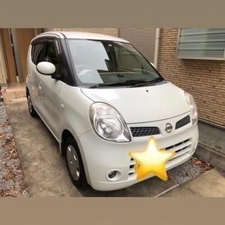 【女性使用車】日産 モコ ホワイト 白