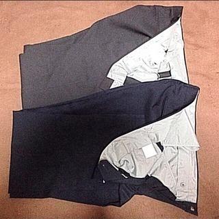 中古☆スラックス W88cm 2本 紺とグレー