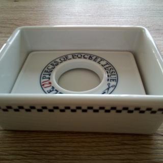 陶器製のポケットティッシュケース