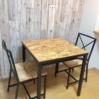 IKEA イケア GRANAS テーブル&チェア2脚