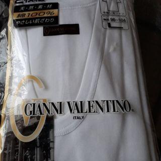 💴⤵️新品‼未使用‼ 紳士半袖U首シャツ 二枚組