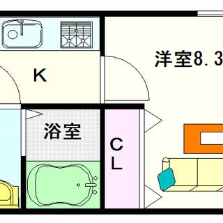 【メルクリオール難波】1号タイプ!1Kタイプ!エレベーターに防犯カ...