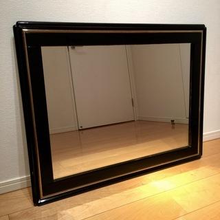希少!壁掛け鏡  高級イタリア製 エナメル加工ゴールド縁塗装