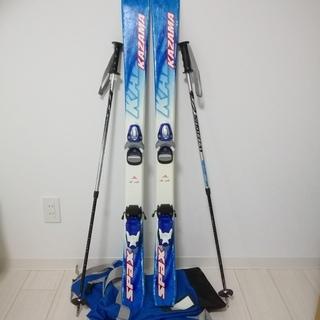 スキー ジュニア用 120 ストック&収納袋付き