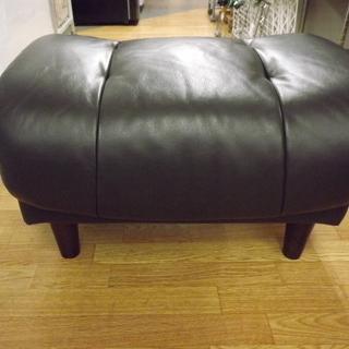 ニトリ スツール  椅子 イス  革 皮 黒 札幌 西岡店