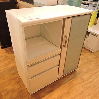 北大前! 札幌 引取 キッチンボード 食器棚 引き出し付き…