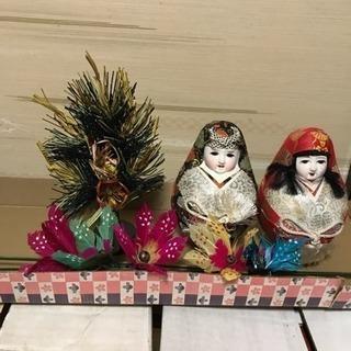 正月飾りと雛人形