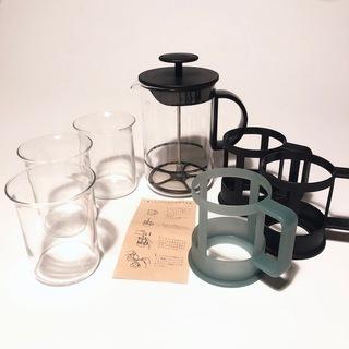 bodum コーヒーミルクフォーマー1台 グラス3個セット