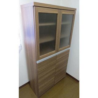 食器棚 キッチンボード 小型 中くらい  幅73 奥行32 高さ1...