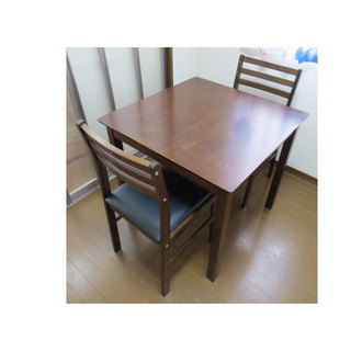 訳あり家具 ダイニングセット 食卓セット 2人用 食卓テーブル 幅...