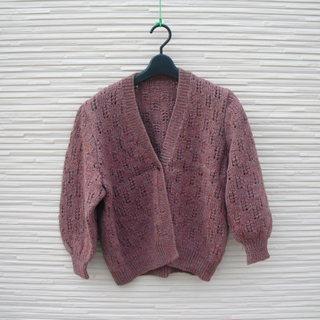 手編みのカーディガン9