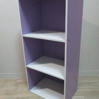 カラーボックス 紫  高さ89cm 横42㎝ 奥行29cm