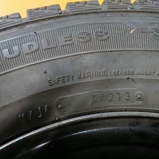 中古スタッドレスタイヤ 4本セット 鉄ホイール付き