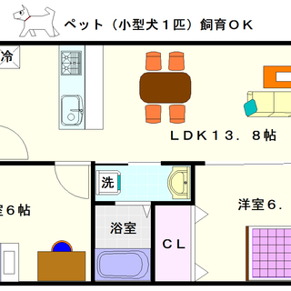 【FDS GLANZ】1号タイプ!2LDKタイプ!ペットOKですね☆
