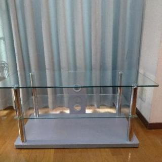 ガラス テレビ台