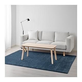 IKEA ADUM オードゥム ラグ パイル長 ダークブルー