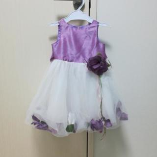 【値下げ】パープルのドレス サイズ80