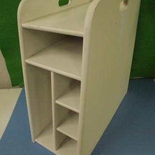 卓上ラック デスク上収納 木製 ホワイト オフィス用品 JM218...